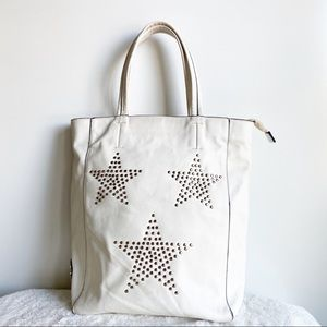 SOLD CXL  Christian Lacroix Cream Studded Tote Bag
